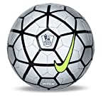 Nike EPL Pitch Football, Size 5 (Silver/Black)