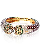 Bubber Beauty Palace Red & Green Brass Bangles for Women (BBP - BPBNGL-372)