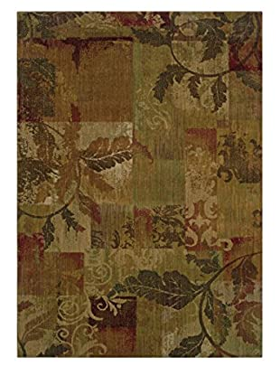 Granville Rugs Tuscany Rug (Green/Red)