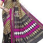 Multi Printed Mysore Art Silk Saree With Blouse Piece