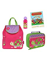 Stephen Joseph Quilted Backpack, Lunch Box, & Bottle Set, Turtle