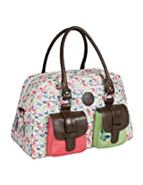 Lassig Vintage Metro Style Diaper Bag Shoulder Bag Handbag Tote-Bag includes Matching Insulated Bottle Holder, wipeable Changing Mat, Stroller Hooks and lots of compartments for Changing your baby, Butterfly Spring