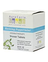Aura Cacia Aromatherapy Shower Tablets Reviving Peppermint 3 ounce (Pack of 3)