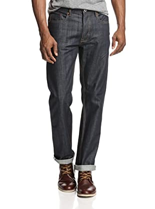 Denim & Leathers by Andrew Marc Men's Straight Raw Wash Jean (Indigo)