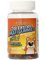 21st Century Zoo Friends Tropical Multi Gummies Plus Extra C Supplement - 60 Count