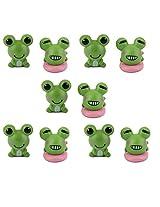Generic 10pcs Toy Dollhouse Bonsai Garden Landscape Little Cartoon Frog Decor