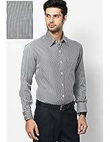 Black Striped Formal Shirt