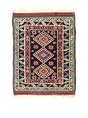 L'EDEN DEL TAPPETO Alfombra Konya Antik Rojo/Multicolor 112 x 130 cm
