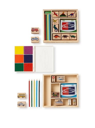 Melissa & Doug Dinosaur/Vehicle Stamp Set