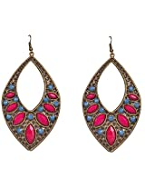 Saadi Gali Rhinestone Dangle & Drop Earring For Women (Multi-Colour)
