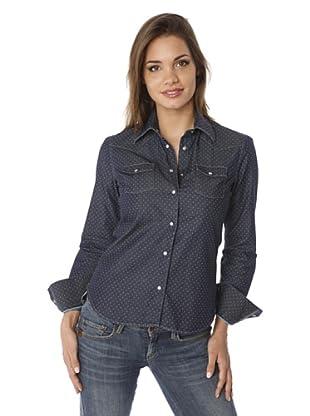 Gazoil Camisa Topos (Azul Oscuro)