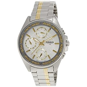 Casio Enticer White Dial Women's Watch - LTP-2086SG-7AVDF (A856)