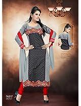 The New Designer Attractive Black And Orange Suit FA217-2010