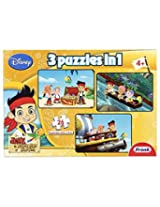 Frank Jake and the Never Land Pirates 3 in 1 Puzzle, Multi Color
