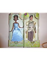 """Disney Classic 2 Doll Set 12""""H (Prince Naveen And Tiana In Blue Dress)"""