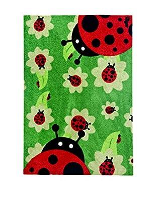 VIGAR Felpudo Ladybug Essential Rojo / Verde