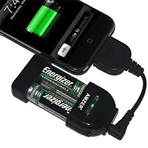 Amzer 84075 Emergency Portable Charger with 5 Adapters