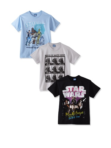Freeze Boy's 8-20 Star Wars T-Shirt Bundle (Silver/Light Blue/Black)