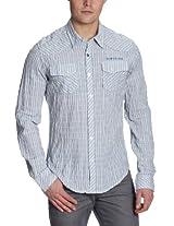 Calvin Klein Mens Striped Shirt (Size S)
