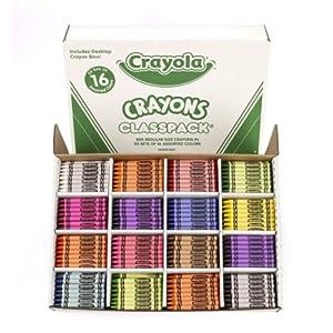 Crayola 800CT Regular Size Crayons 16 Colors Classpack