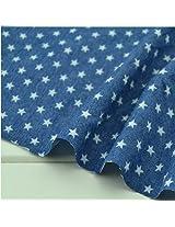 HOT! 50*150cm cotton denim fabric printing cotton blue jeans fabric fashion apparel fabric DIY craft sewing fabric