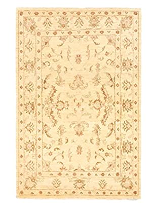 eCarpet Gallery One-of-a-Kind Hand-Knotted Peshawar Oushak Rug, Cream/Light Yellow, 4' 8