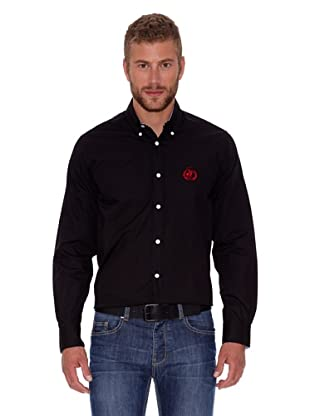 Polo Club Camisa Hombre Fitted Logo (Negro)