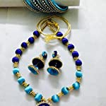 Silk Thread Necklace, Earing & Bangles