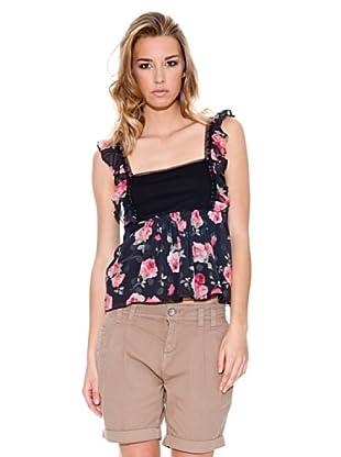 Fornarina Camiseta Loto (Negro / Rosa)