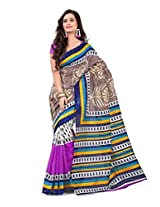 Vibes Cotton Patch Work Saree (S33-6006B _Multi-Coloured)