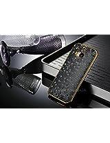 Excelsior Premium Designer Diamond Style Back Cover Case for HTC One M8 (Black)