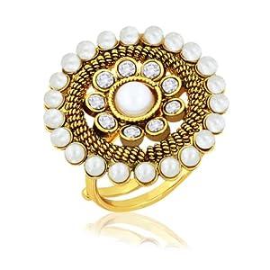 Floral Designer Wear Kundan Finger Ring by Spargz - Model Number AIFR 009