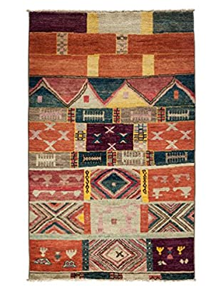 Darya Rugs One-of-a-Kind Tribal Rug, Rose, 4' 10