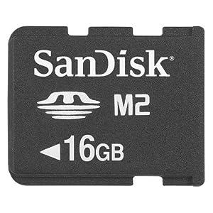 【クリックで詳細表示】SanDisk Memory Stick Micro(M2) 16GB サンディスク 海外向けパッケージ