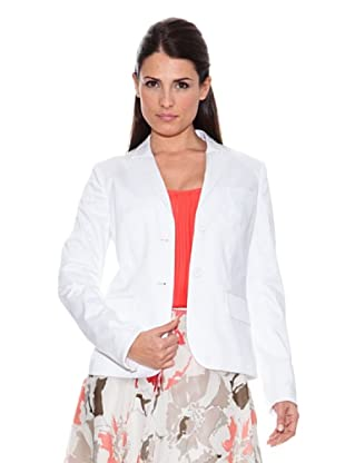 Caramelo Chaqueta Vestir (Blanco)