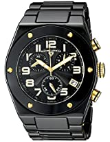Swiss Legend Watches, Men's Throttle Chronograph Black Dial Gold Tone Accents Black Ceramic, Model 10028-BKBGA