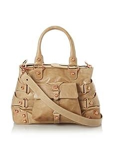 Ruthie Davis Women's Convertible Strappy Handbag (Nude/Rosegold)