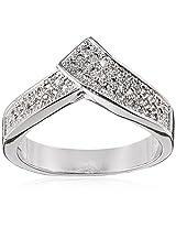 Shaze Ring for Women (Silver) (COLLAR RING SLV 3302)