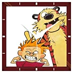 Calvin And Hobbes Funny Wall Clock from Shopkeeda