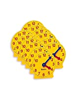 Learning Resources Extra 4 Geared Mini Clocks 6/Pk (Set Of 3)