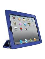 Mivizu Sense Leather Folio Cover for the Apple iPad 2 iPad Wi-Fi/3G Model 16 GB 32 GB 64 GB - Blue (IPAD2MVZSMRTBLU00)