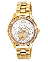 Elite analog Ladies dress White dial Women's watch - E53354G/101