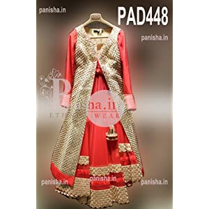 Panisha Attractive Anarkali Suit-Red