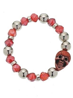 Anna Biblò Bracciale Happy Skull rosso
