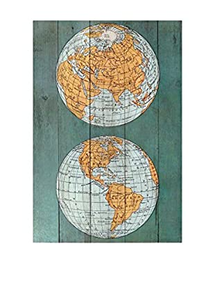 Surdic Panel de Madera The World Multicolor