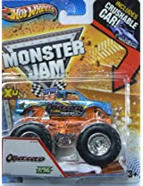 Hot Wheels Monster Jam Obsessed with Edge Glow - Includes Crushable Car - 1/64 Scale