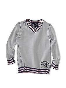 KANZ Boy's V-Neck Sweater (Grey)