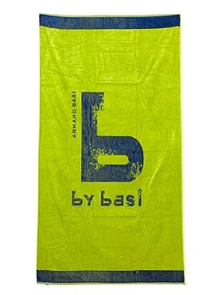 ByBasi Toalla de Playa Logo (Pistacho)