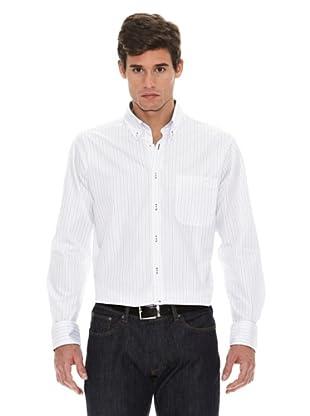 Turrau Camisa Raya Fina Bicolor (Negro / Gris)