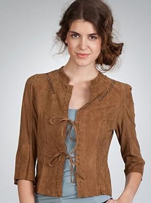 Naf Naf Cazadora Piel (marrón)